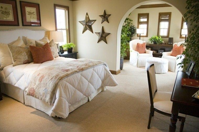 dormitorio matrimonio ideas modernas estrellas pared bonitas