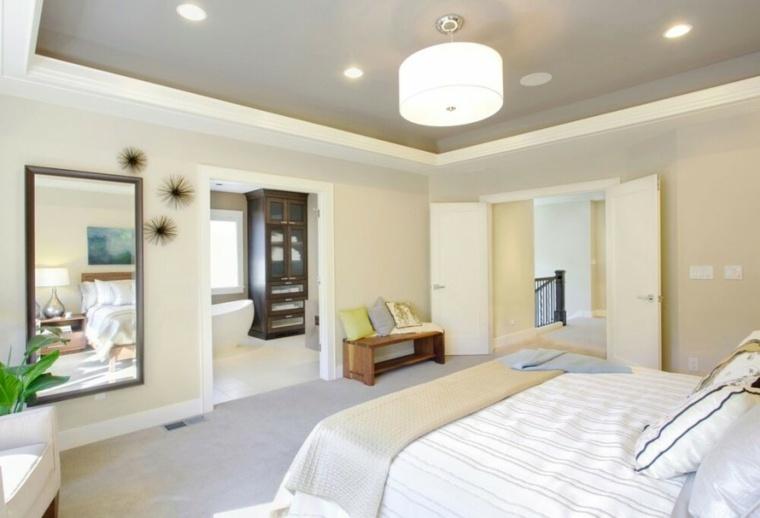 dormitorio-matrimonio-ideas-modernas-lujoso-espejo-grande