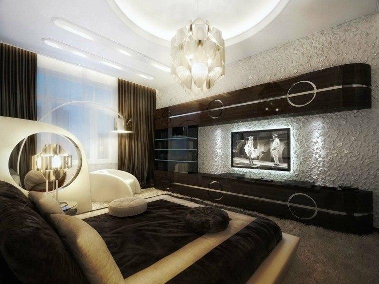 dormitorio matrimonio ideas modernas lujoso pared blanca bonito