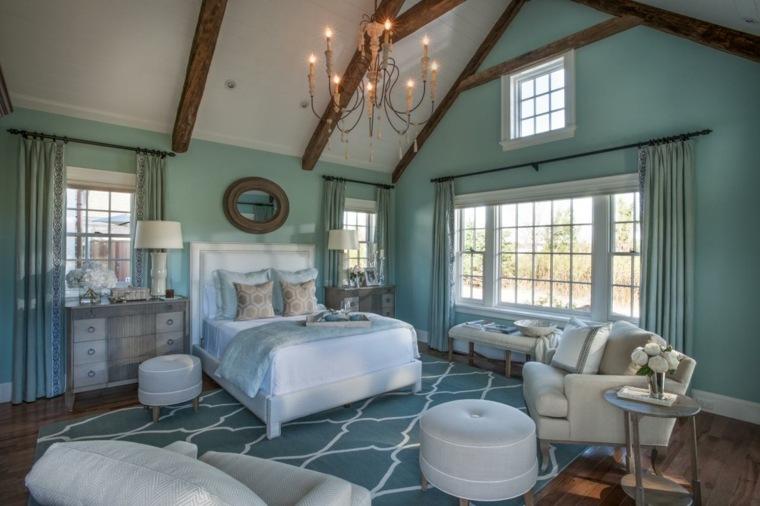 dormitorio matrimonio ideas modernas muebles blancos bonito