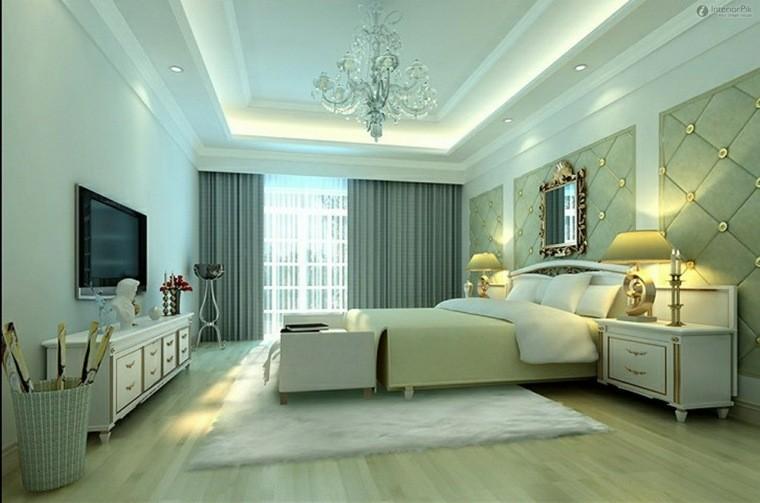 dormitorio matrimonio ideas modernas muebles madera blanca bonito