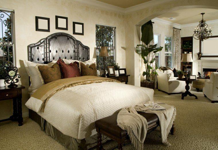 dormitorio matrimonio ideas modernas sillones blancos bonito