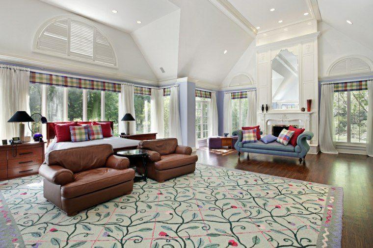 dormitorio matrimonio ideas modernas sillones cuero bonito