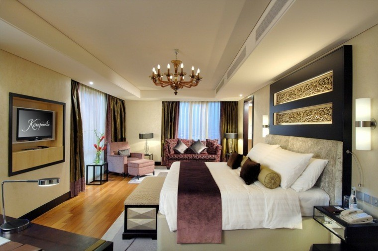 dormitorio matrimonio ideas modernas sofa rosa bonito