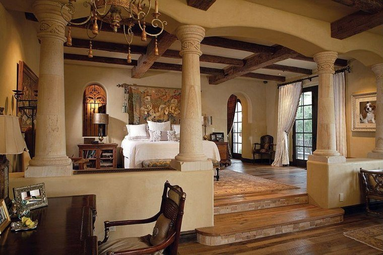 dormitorio matrimonio ideas modernas techo abovedado bonito