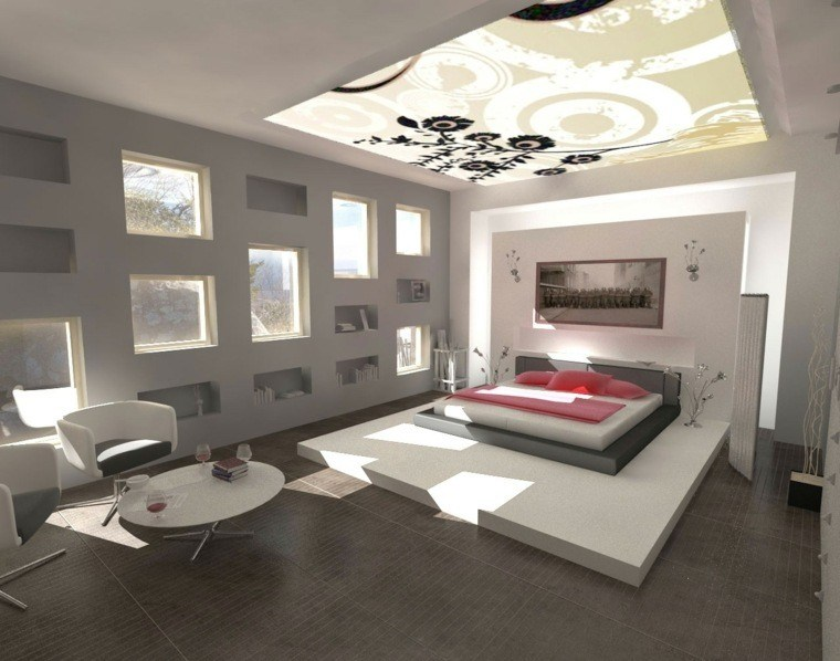 dormitorio matrimonio ideas modernas techo precioso bonito