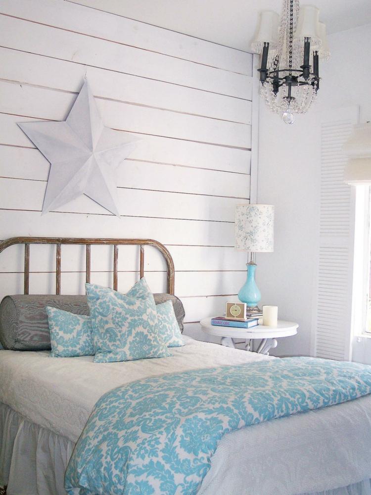 dormitorio pequeño estilo shabby chic