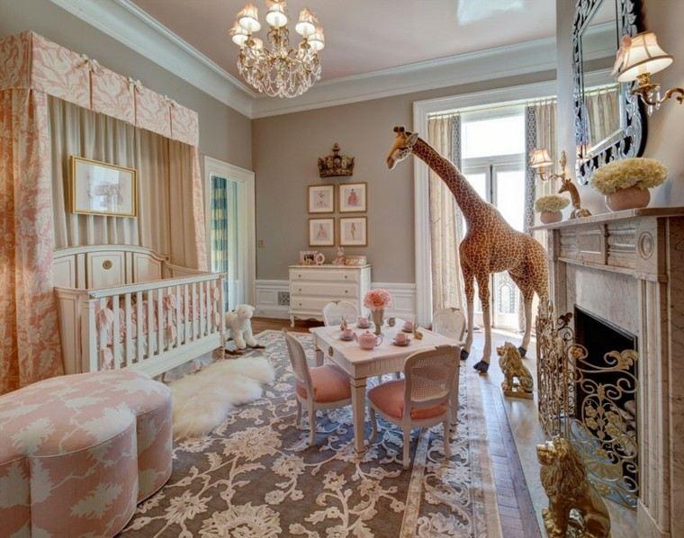 habitaciones de bebe ideas colorido neutral jirafa alfombra