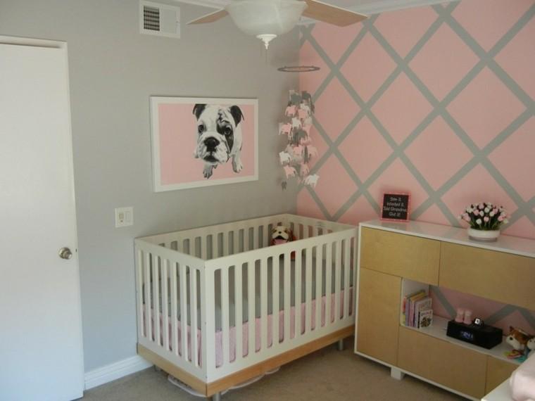 dormitorio vivo colorido sillon perro grises