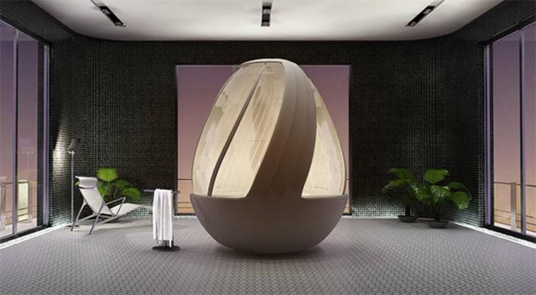 ducha huevo capsula estilo plantas