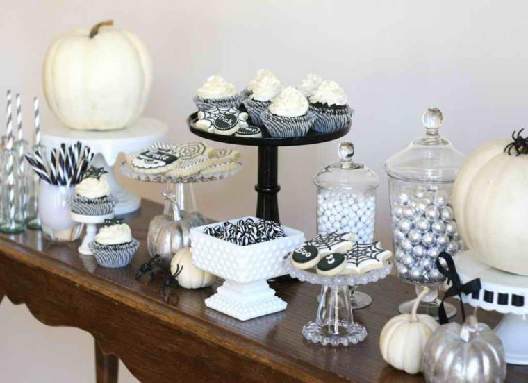 dulces halloween  color blanco negro