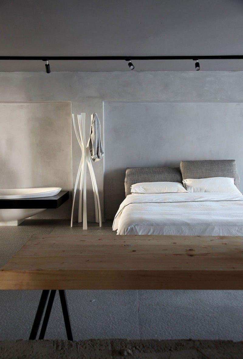 esé studio dormitorio simple hormigon ideas