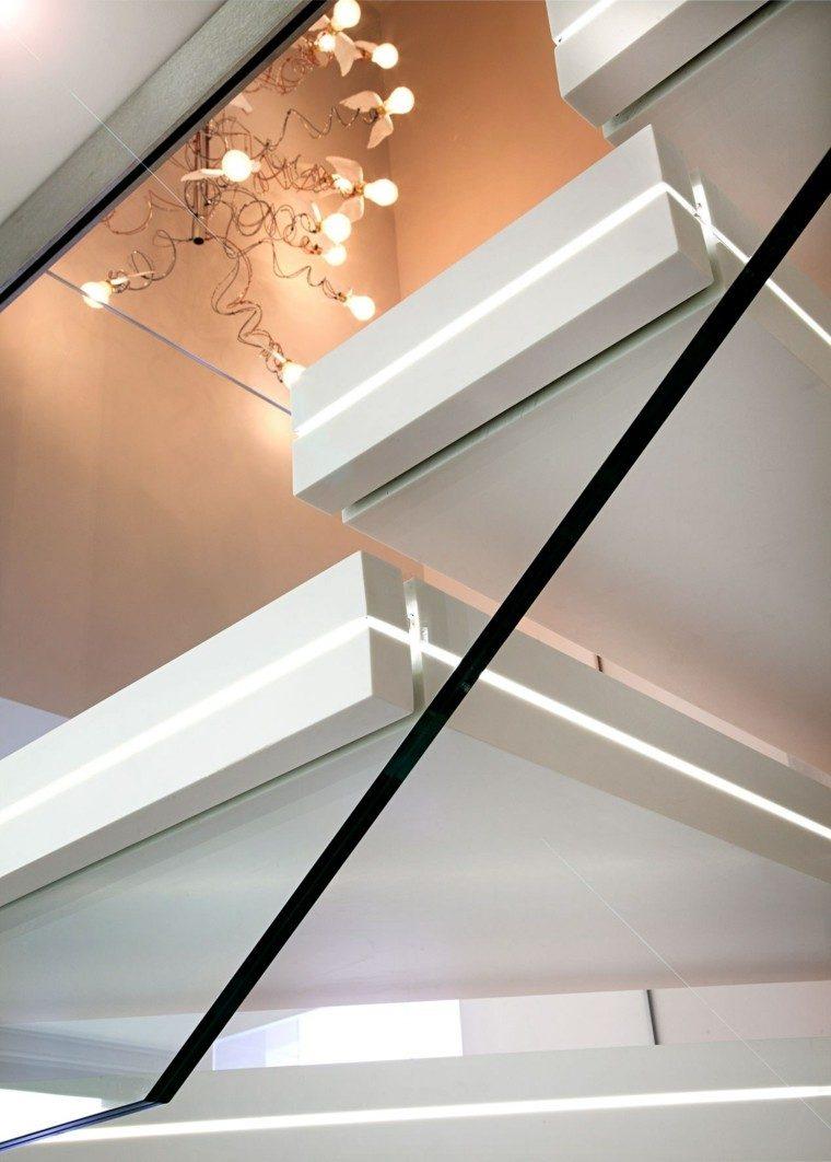 escaleras interior iluminacion LED imagen cerca ideas