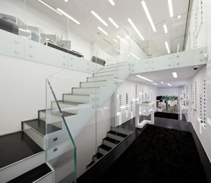 escaleras madera aluminio cristal casa amplia ideas