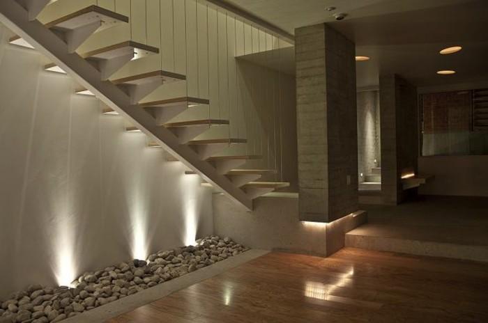 escaleras de madera aluminio cristal casa baldos ideas