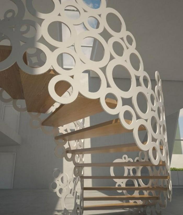 escaleras de madera aluminio cristal casa borbujas ideas