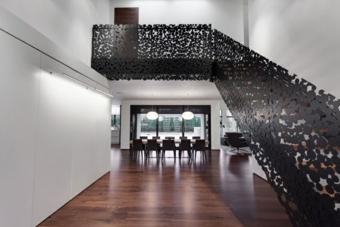 escaleras de madera aluminio cristal casa detalles barandillas ideas