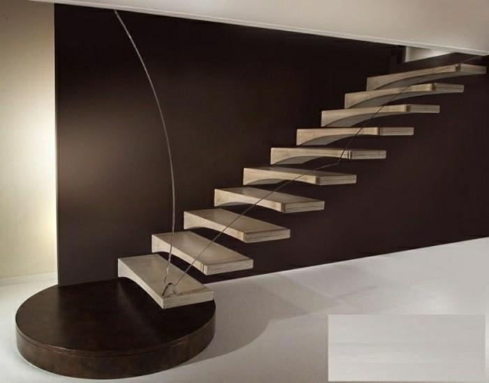 escaleras madera aluminio cristal casa escalones blancos ideas