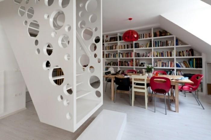 escaleras madera aluminio cristal casa estanteria ideas