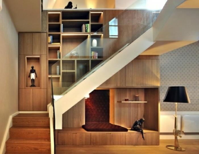 escaleras madera aluminio cristal casa estanterias ideas