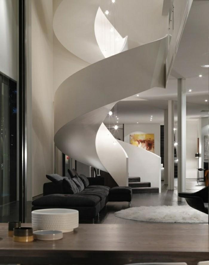 escaleras madera aluminio cristal casa hormigon blanco ideas