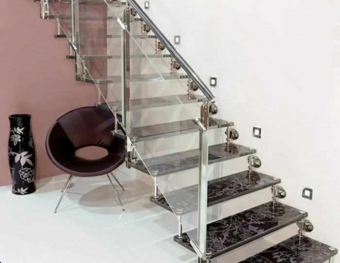 escaleras madera aluminio cristal casa jarron ideas