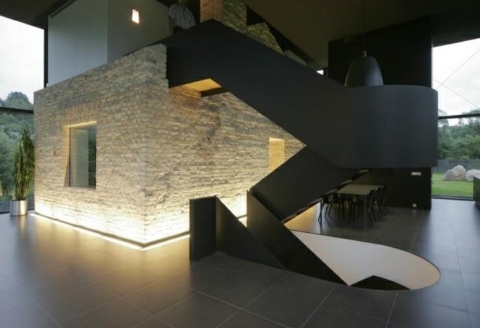 escaleras madera aluminio cristal casa luminosa ideas