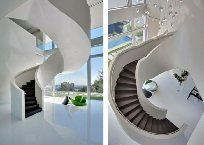 escaleras madera aluminio cristal casa marron ideas
