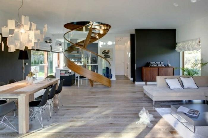 escaleras madera aluminio cristal casa mesa madera ideas