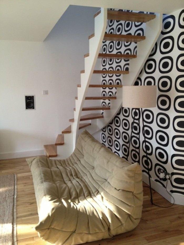 escaleras madera aluminio cristal casa sofa comoda ideas