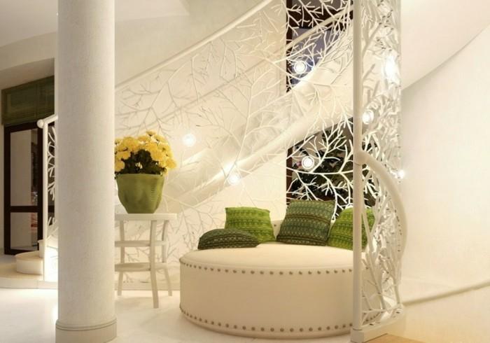 escaleras madera aluminio cristal casa taburete cuero ideas