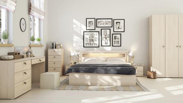 espacio dormitorios matrimonio amplios armarios madera ideas