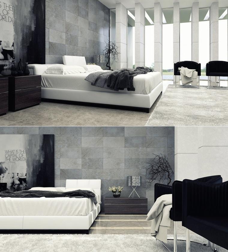 Espacio dormitorios de matrimonio amplios y luminosos for Dormitorio matrimonio negro