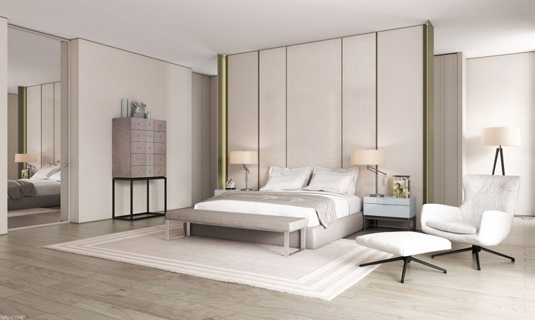 espacio dormitorios matrimonio amplios blanco ideas