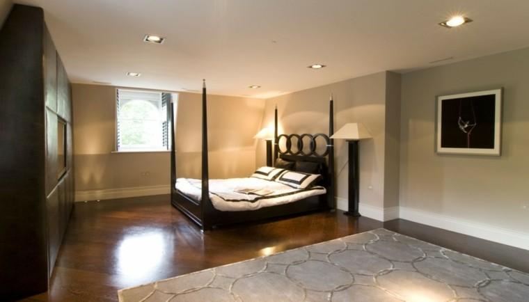 espacio dormitorios matrimonio amplios cama dosel ideas