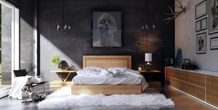 espacio dormitorios matrimonio amplios cama madera ideas