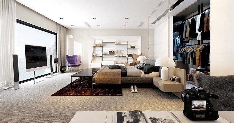 espacio dormitorios matrimonio amplios contemporraneo ideas