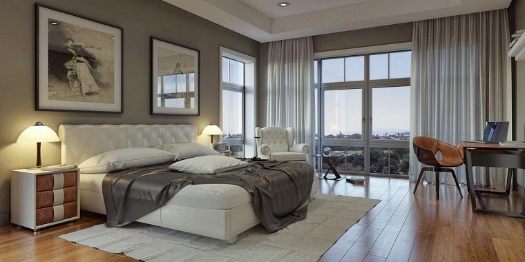 espacio dormitorios de matrimonio amplios cuero ideas