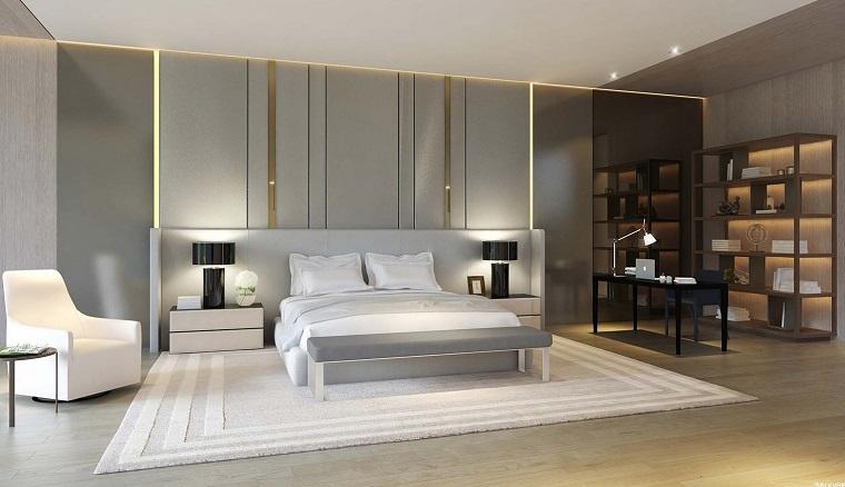 espacio dormitorios de matrimonio amplios estanterias ideas