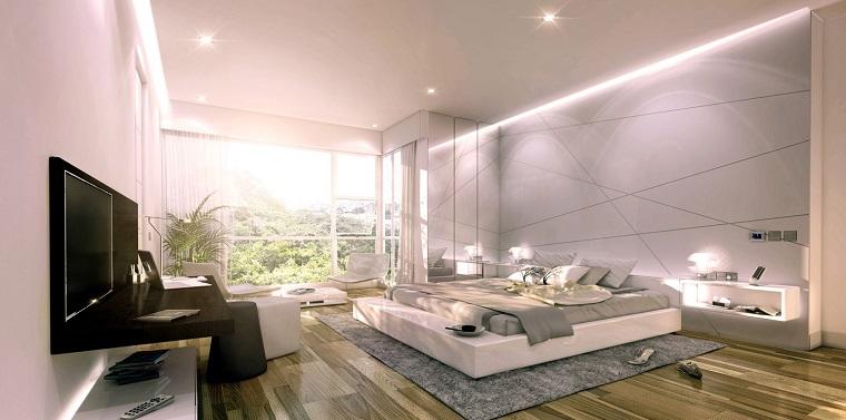Espacio dormitorios de matrimonio amplios y luminosos - Iluminacion de dormitorios ...
