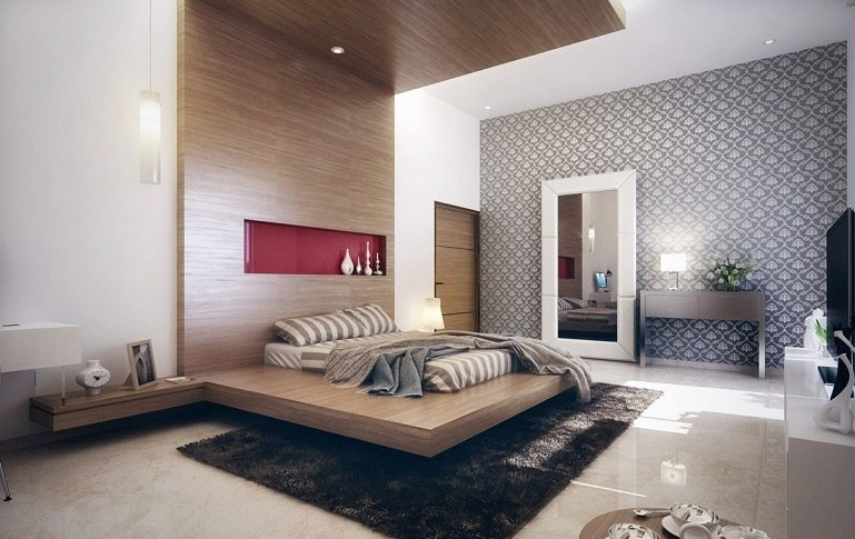 espacio dormitorios de matrimonio amplios madera ideas