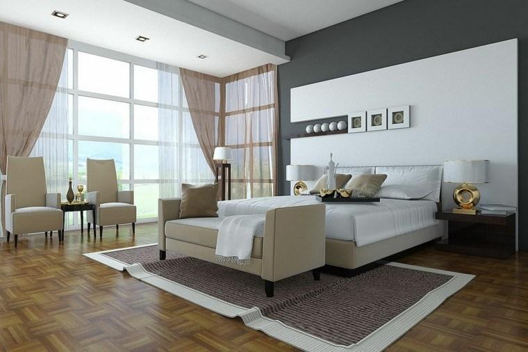 espacio dormitorios matrimonio amplios sillones ideas