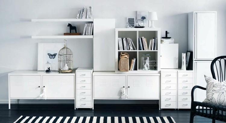estante modular estilo retro blanco