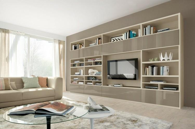 estanterias modulartes integradas obra pared