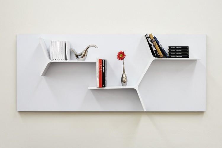 estantes muebles modernos salon link diseño