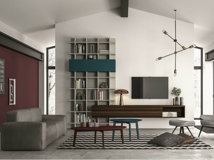 estantes salon diseño modulares moderno
