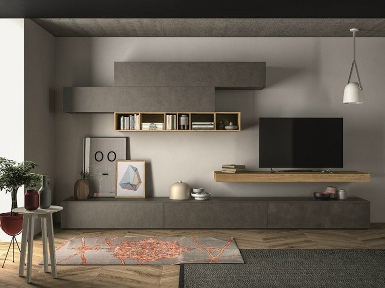 estantes modulares color diseo gris