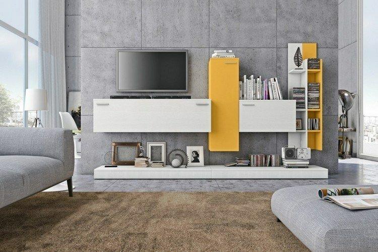 estantes color amarillo blanco