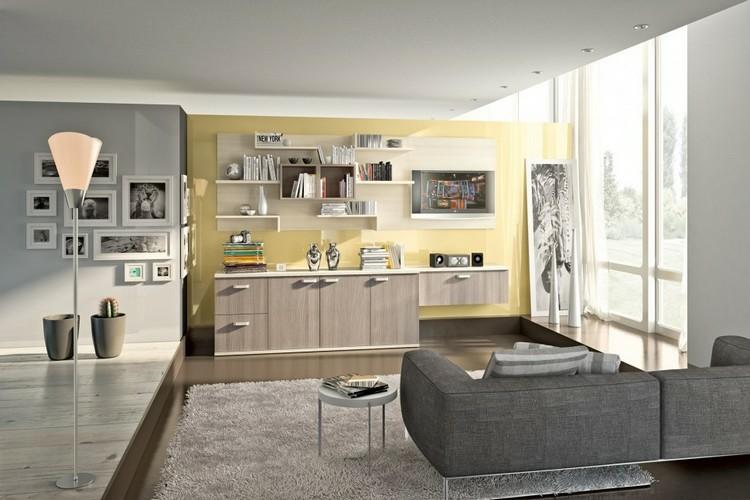 Estanterias modulares para salones modernos 38 ideas - Estanterias modulares madera ...