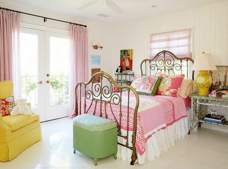 habitación shabby chic colores